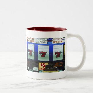 Ganador afortunado de la máquina tragaperras tazas de café