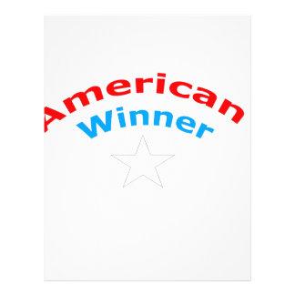 Ganador americano membrete