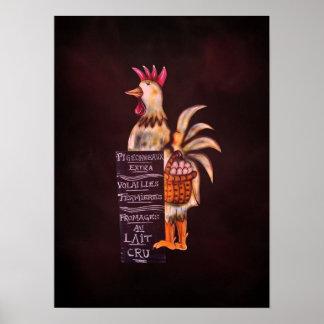Ganador de hoy del premio de la muestra del pollo  posters
