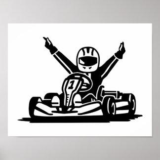 Ganador de Kart Póster