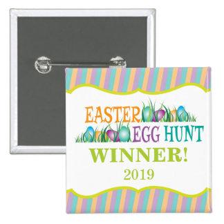 Ganador de la caza del huevo de Pascua, huevos Chapa Cuadrada 5 Cm