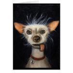 Ganador de la competencia fea 2011 del perro tarjeta de felicitación