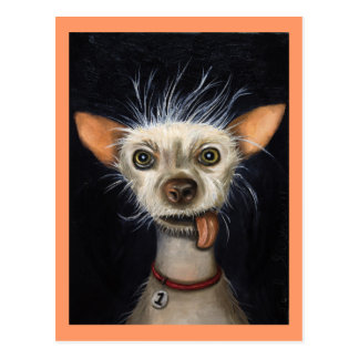 Ganador de la competencia fea 2011 del perro tarjeta postal