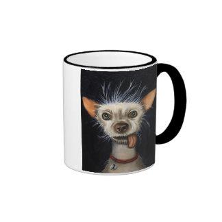 Ganador de la competencia fea 2011 del perro taza de dos colores