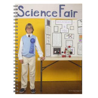 Ganador de la feria de ciencia cuaderno