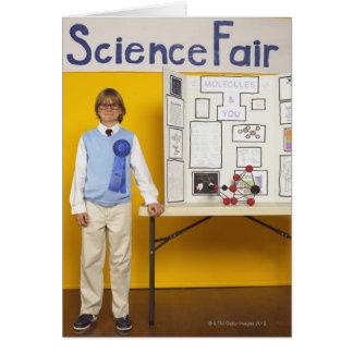 Ganador de la feria de ciencia tarjeta de felicitación