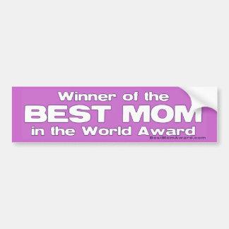 Ganador de la mejor mamá del premio del mundo pegatina para auto