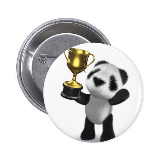 ganador de la panda del bebé 3d pin