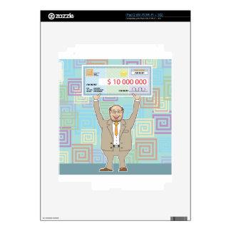 Ganador de lotería 10M que lleva a cabo un vector Calcomanía Para El iPad 2