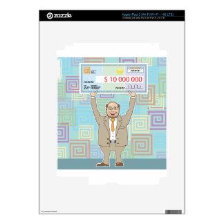 Ganador de lotería 10M que lleva a cabo un vector Pegatinas Skins Para iPad 3