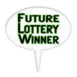 Ganador de lotería futuro decoraciones de tartas