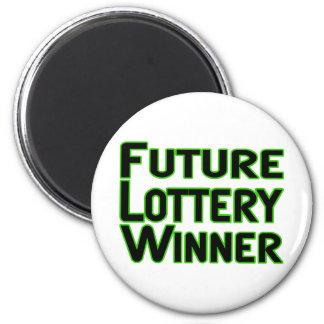 Ganador de lotería futuro imán de frigorifico