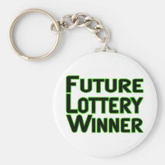 Ganador de lotería futuro llavero redondo tipo pin
