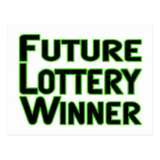 Ganador de lotería futuro postales