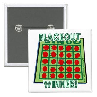¡Ganador del bingo del apagón del botón del bingo Pin