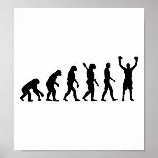 Ganador del boxeo de la evolución poster
