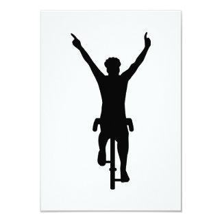 Ganador del ciclista invitaciones personalizada