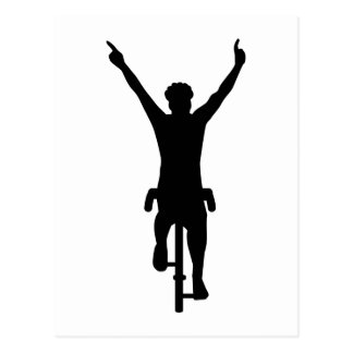 Ganador del ciclista tarjeta postal
