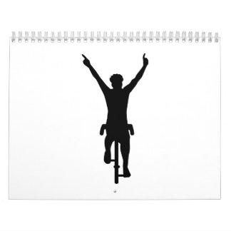 Ganador del ciclista calendarios de pared