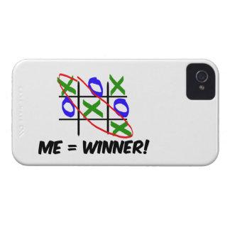 Ganador del dedo del pie de Tic Tac Case-Mate iPhone 4 Fundas