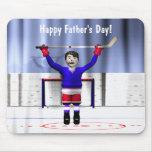 Ganador del hockey del día de padre tapete de raton