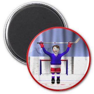 Ganador del hockey imanes de nevera