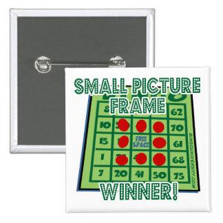 ¡Ganador del marco del botón del bingo pequeño Pins