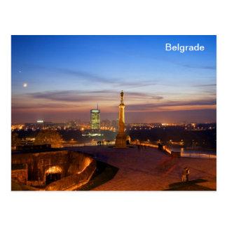 ganador del monumento de Belgrado de la postal