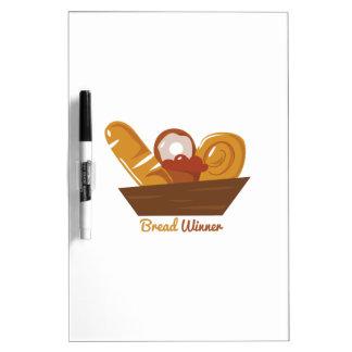 Ganador del pan tablero blanco