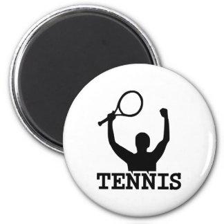 Ganador del partido del tenis imanes de nevera