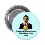 Ganador del premio 2009 de presidente Obama Nobel  Pins