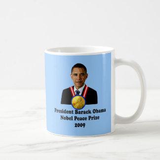 Ganador del premio 2009 de presidente Obama Nobel Tazas