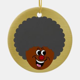 Ganador del premio de la noche del bingo del adorno navideño redondo de cerámica