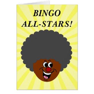 Ganador del premio de la noche del bingo del tarjeta pequeña