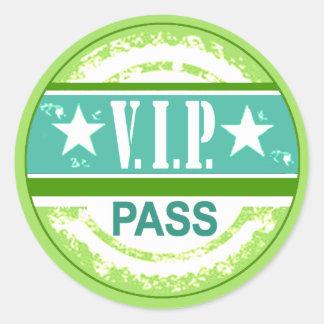 :: Ganador del TBA:: Fiesta azul y verde del paso Etiqueta Redonda