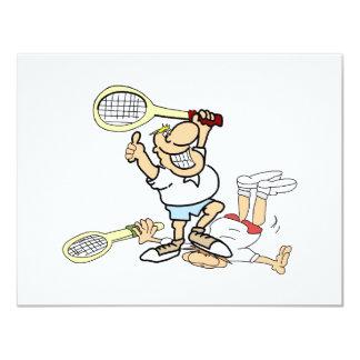 """Ganador del tenis invitación 4.25"""" x 5.5"""""""