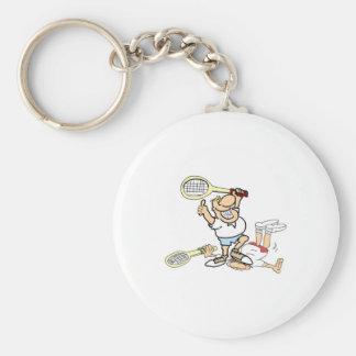 Ganador del tenis llaveros