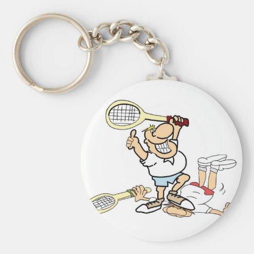 Ganador del tenis llavero redondo tipo pin