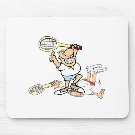 Ganador del tenis tapete de raton