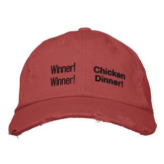 ¡Ganador! ¡Ganador! ¡Cena del pollo! Gorra De Béisbol Bordada