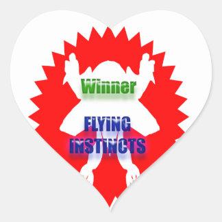 GANADOR - instintos del vuelo Pegatina En Forma De Corazón