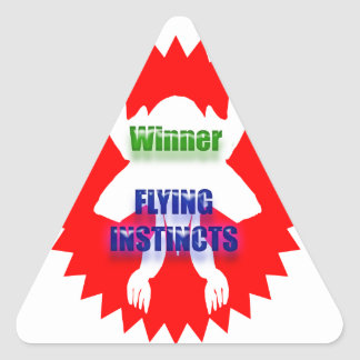 GANADOR - instintos del vuelo Pegatina Triangular