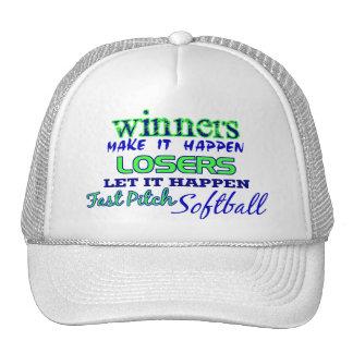 Ganadores….Ayuna el softball de la echada Gorras