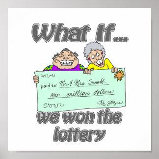 Ganadores de lotería póster