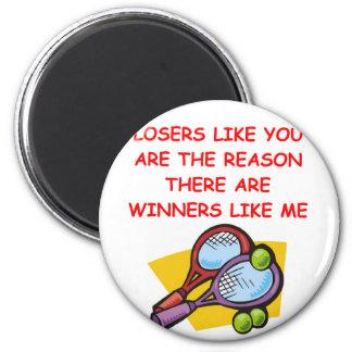 ganadores divertidos y chiste de los perdedores iman de nevera