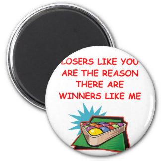 ganadores divertidos y chiste de los perdedores imanes de nevera