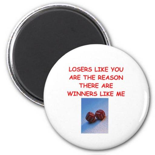 ganadores divertidos y chiste de los perdedores iman