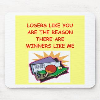 ganadores divertidos y chiste de los perdedores alfombrillas de ratón