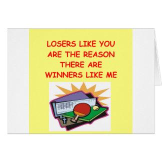 ganadores divertidos y chiste de los perdedores tarjeta de felicitación