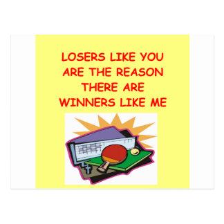 ganadores divertidos y chiste de los perdedores postales